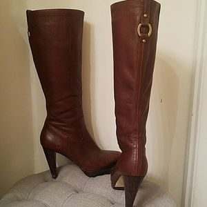 Banana Republic brown leather 4inch riding boot